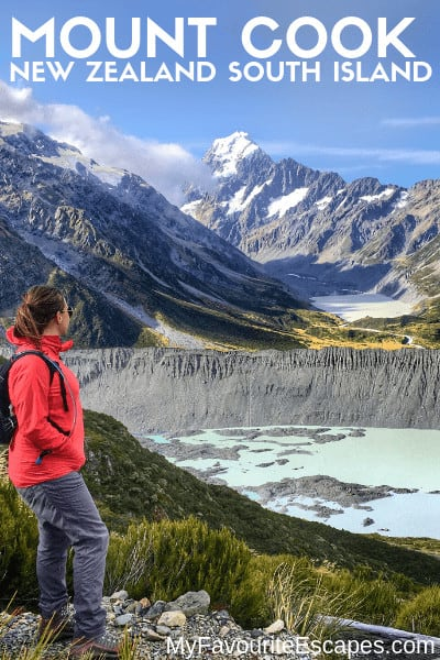 View from one of Mt Cook Hikes in New Zealand South Island