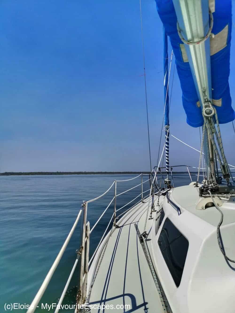 Sailing boat Gippsland Lakes Metung