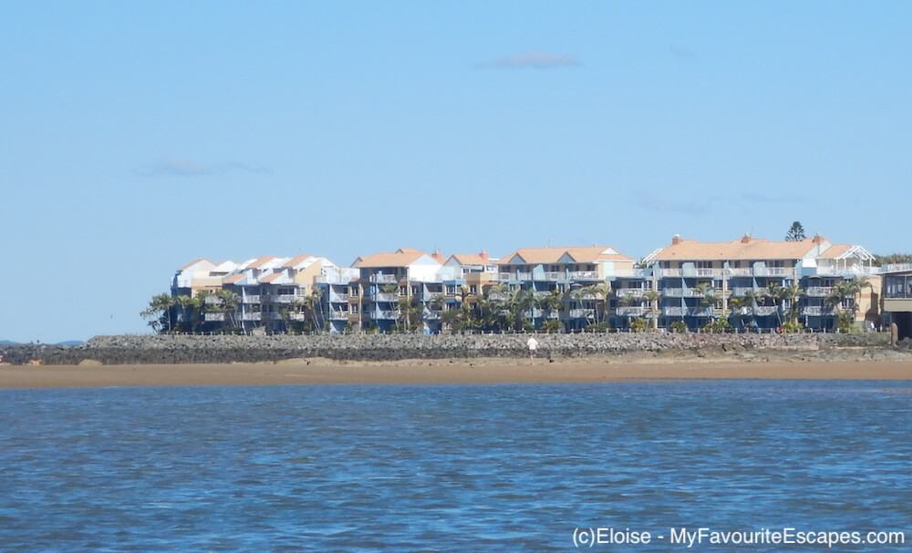 View of Breakfree Hervey Bay from the water