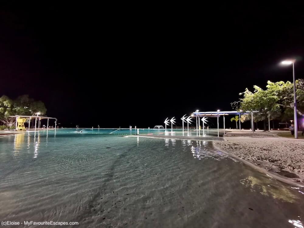 Lagoons in Cairns at night