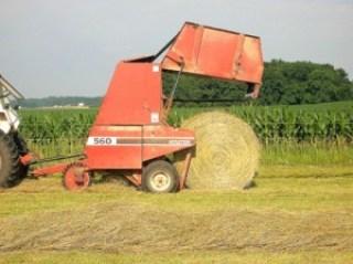 round bale of hay 3