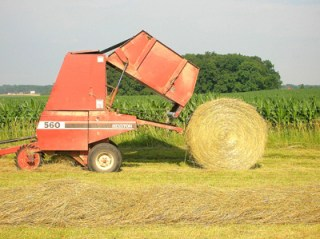 round bale of hay 5