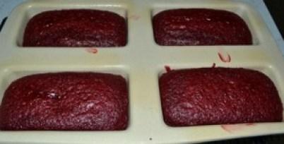 red velvet cake baked
