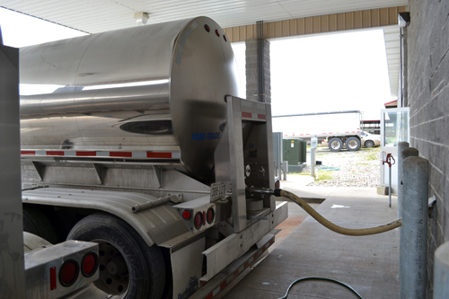 insulated milk tanker