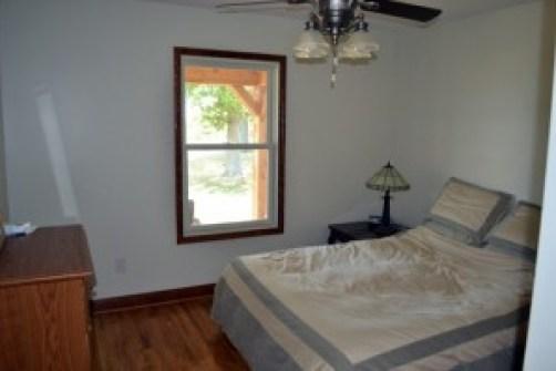 green bedroom after