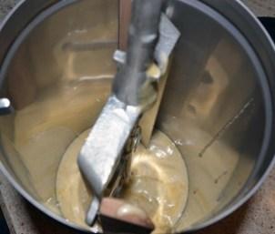 into the ice cream maker