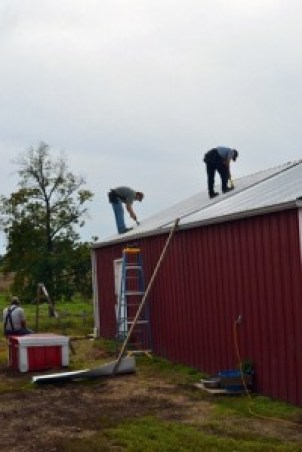 taking off the old roof