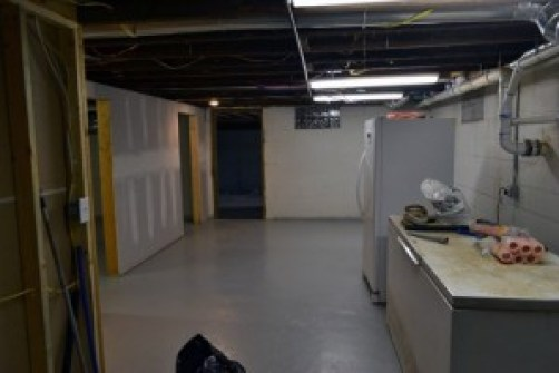 basement freezer east end walls ready