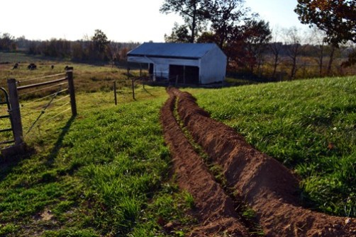 trench to the shed