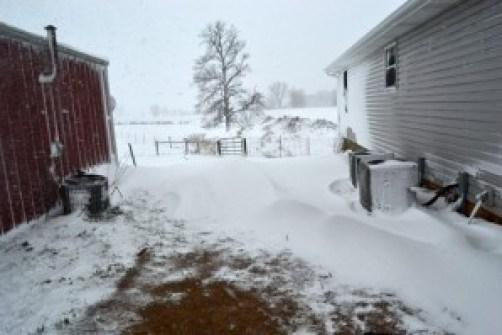 snow on the house