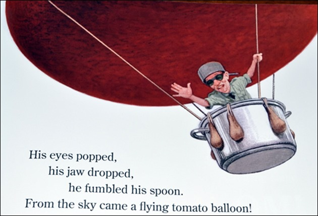 Who Grew My Soup flying tomato balloon