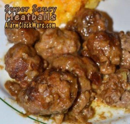 super saucy meatballs