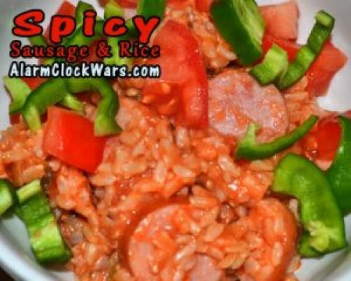 spicy sausage and rice
