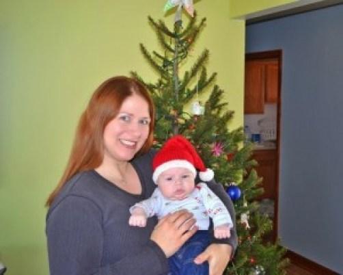 Baby Doc and mom Christmas