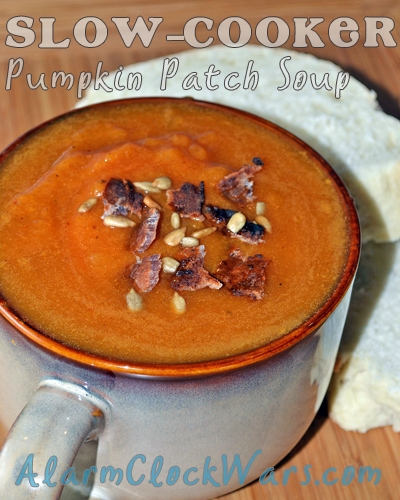 To savor the flavors of fall, put this Pumpkin Patch Soup in your slow cooker. Your nose and your taste buds will thank you for it!