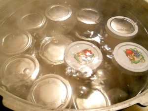 jars in a boiling water canner