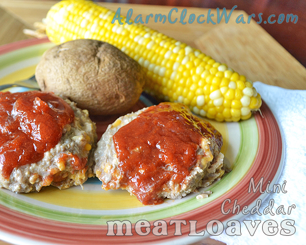 mini cheddar meatloaves