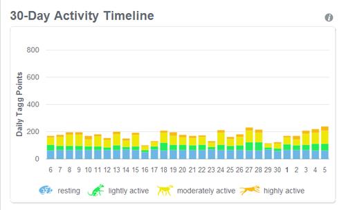 30 day activity timeline
