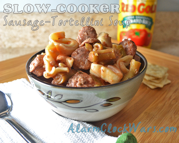 slow-cooker sausage-tortellini soup