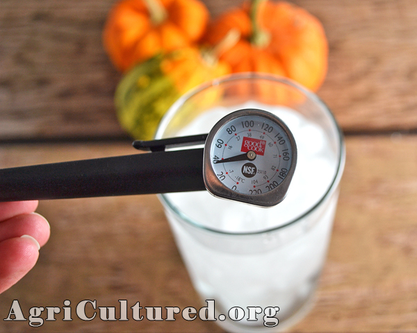 check an instant-read thermometer calibration with cold water