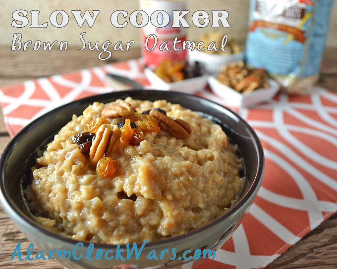 Want breakfast waiting for you when you wake up? Start this Brown Sugar Oatmeal in your crockpot before you head to bed tonight.