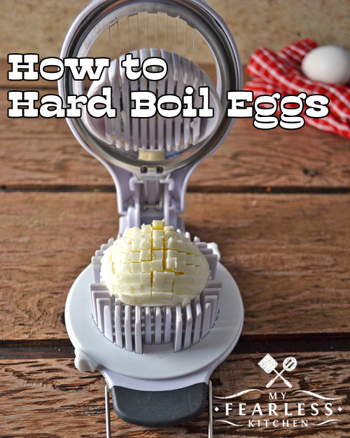 How to Hard Boil Eggs from My Fearless Kitchen. Making the perfect hard boiled egg really isn't that difficult! All it takes is the right size pot, some hot water, and a little bit of patience. Get some easy tips, and you can do them perfectly, too!