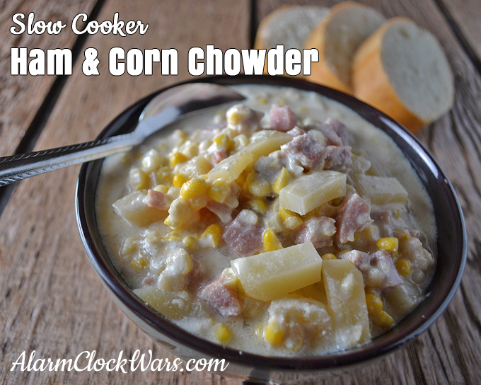 Soups don't have to be just for cold weather. No matter what time of year it is, Slow Cooker Ham & Corn Chowder is always a good idea!