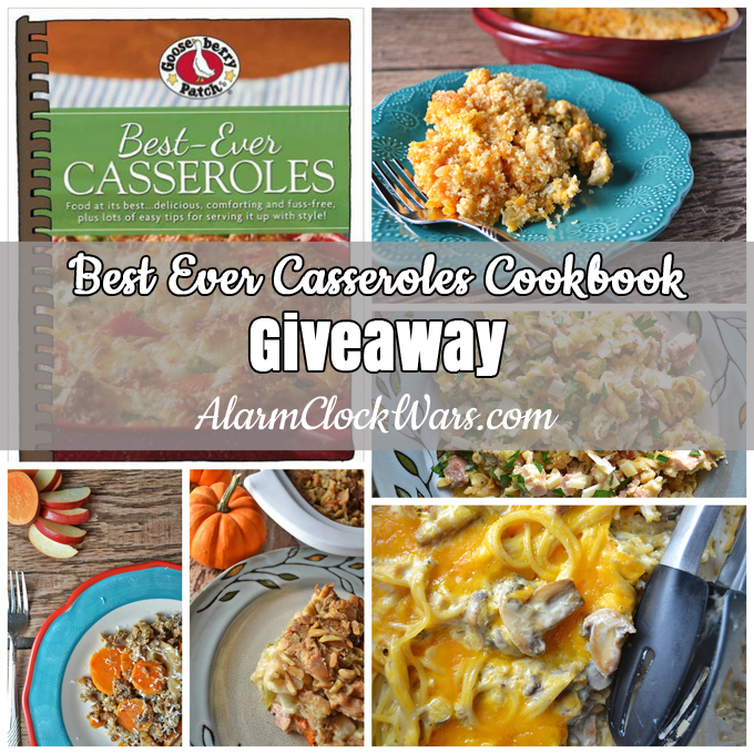 "asseroles don't have to be boring! If you're stuck in a rut with casseroles, you need to check out ""Best Ever Casseroles."" You'll love this cookbook, and I have a copy to give away to one lucky reader!"
