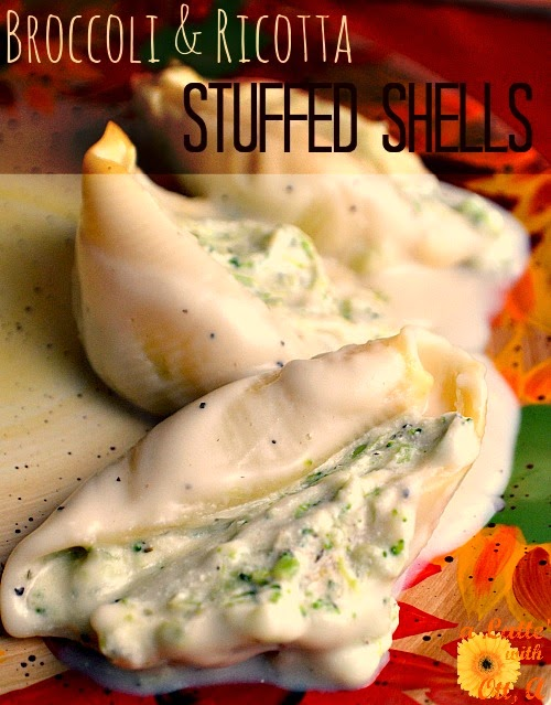 broccoli & ricotta stuffed shells