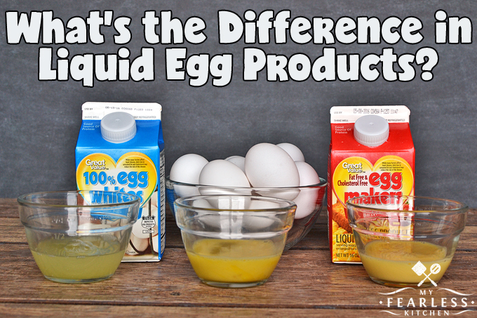 What's the Difference in Liquid Egg Products? from My Fearless Kitchen. Have you seen the liquid egg products on the shelves with the whole eggs? Do you wonder how they are different? Choose whichever eggs are best for your family and your budget.