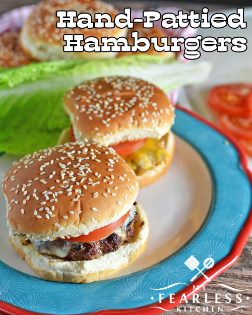 Hand-Pattied Hamburgers from My Fearless Kitchen. These Hand-Pattied Hamburgers are so easy to make, and taste so much better than store-bought hamburger patties! You'll want every night to be cheeseburger night!