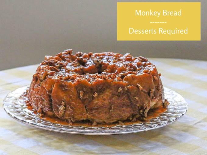 monkey bread on a cake plate