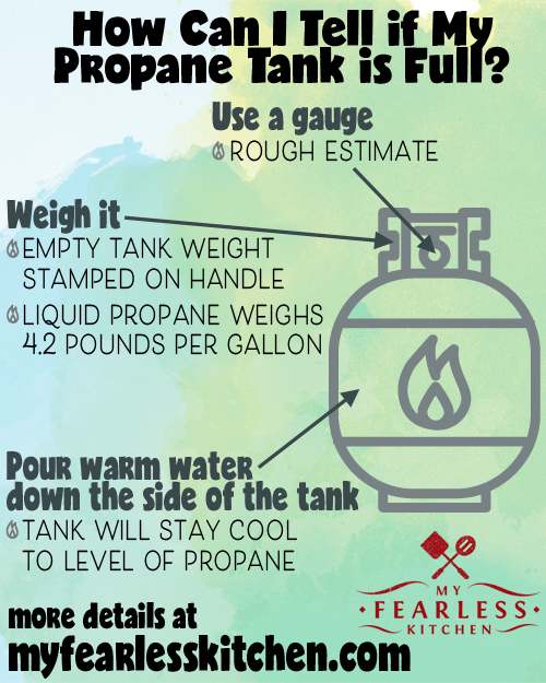 free printable with tips to tell if your propane tank is full or empty