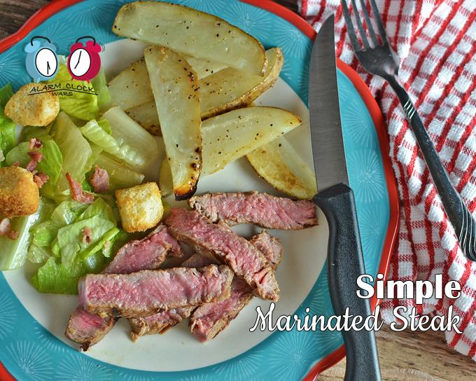 Simple Marinated Steak on Alarm Clock Wars