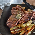 T-Bone Steak with Compound Butter