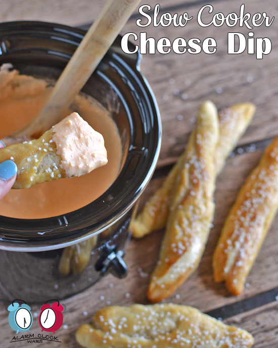 Slow Cooker Cheese Dip on Alarm Clock Wars. Do you need a dip to take your party snacks to the next level? Make this easy Slow Cooker Cheese Dip with only 3 ingredients and 2 hours.