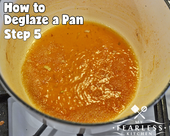 How to Deglaze a Pan from My Fearless Kitchen. Do you know how to deglaze a pan?It's fast and easy, and you should never skip this step! It will help add an extra kick of flavor to any dish.