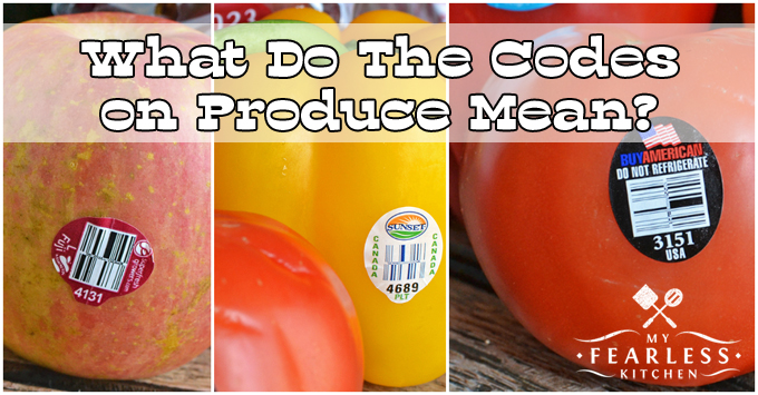 What Do The Codes On Produce Mean? from My Fearless Kitchen. If you have ever been to the grocery store, you've seen stickers on fruits and vegetables. The 4-digit codes on produce can tell you a lot about your food!