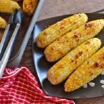 Garlic-Parmesan Roasted Sweet Corn