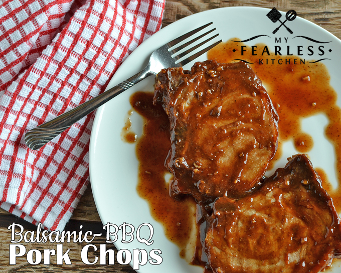 Balsamic-BBQ Pork Chops from My Fearless Kitchen. Do you want an easy pork chop recipe without a grill? Make these Balsamic-BBQ Pork Chops in your oven for the summery taste of barbecued pork chops anytime!
