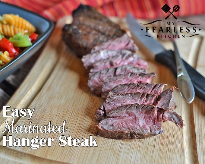 sliced Easy Marinated Hanger Steak