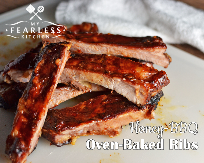 Honey-BBQ Oven-Baked Ribs - My Fearless Kitchen