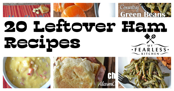 collage of recipes using leftover ham