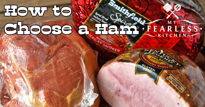 three different types of ham in packaging