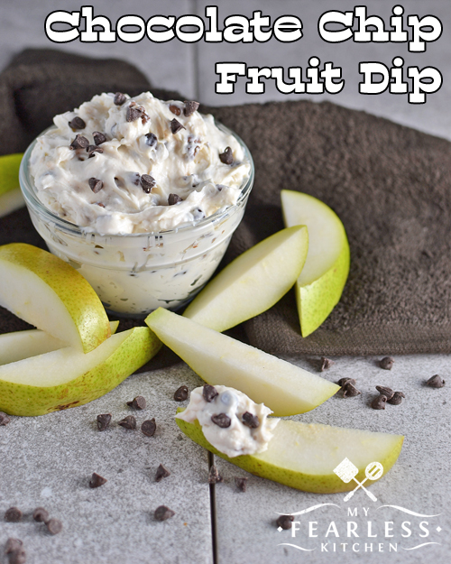 Chocolate Chip Fruit Dip is one of 5 Easy Dip Recipes from My Fearless Kitchen.