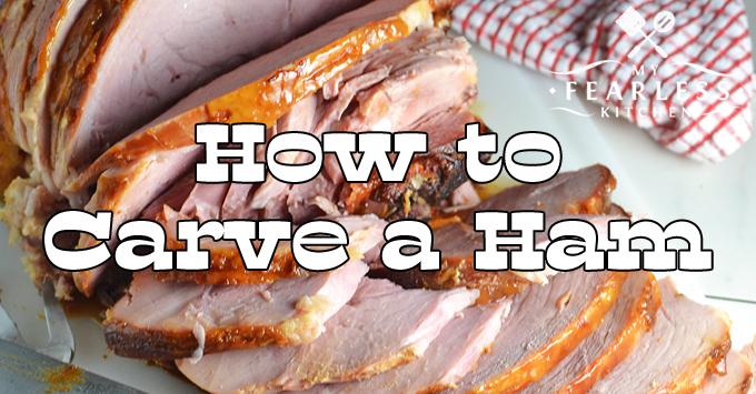 thick-sliced bone-in ham