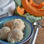 Homemade Cantaloupe Ice Cream