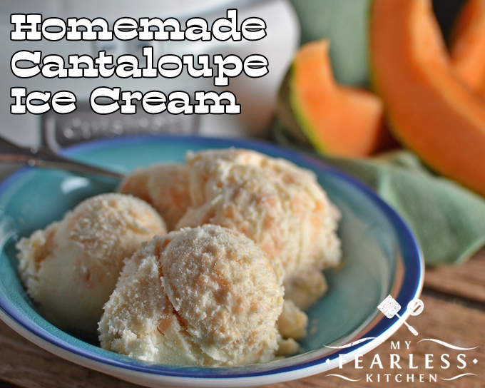 Homemade cantaloupe ice cream my fearless kitchen homemade cantaloupe ice cream from my fearless kitchen cantaloupe and ice cream isnt ccuart Images