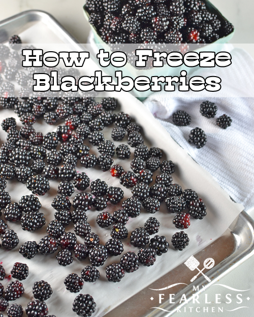 How to Freeze Blackberries from My Fearless Kitchen. Do you want to save some summer-fresh blackberries to use later? Get the tips on the best way to freeze blackberries for a taste of summer in the winter.