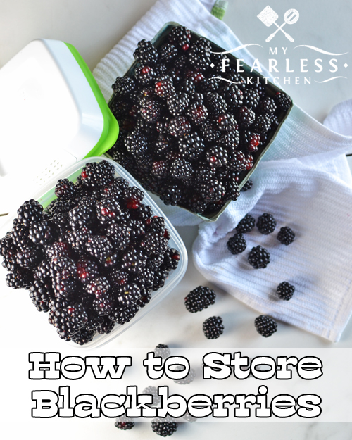 How to Store Blackberries from My Fearless Kitchen. Blackberry season is delicious! Get some tips to store blackberries so they stay fresh as long as possible. Plus, get some easy blackberry recipes.